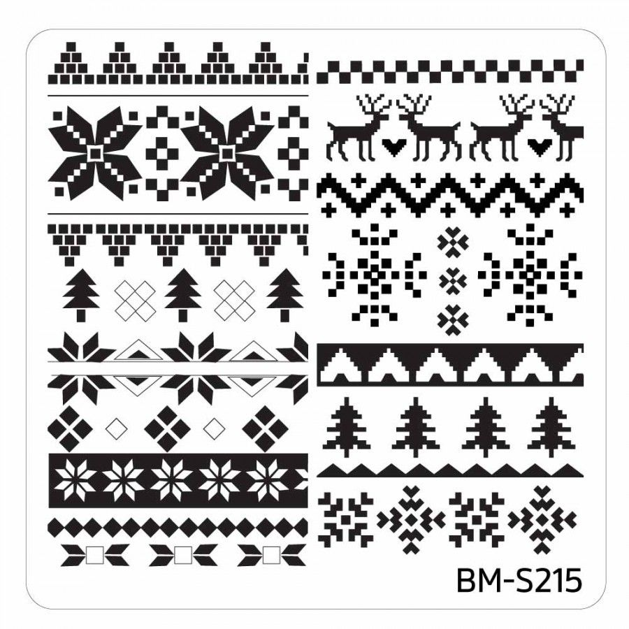Christmas Themed Nail Art Stamping Plates - Occasions Collection, BM ...