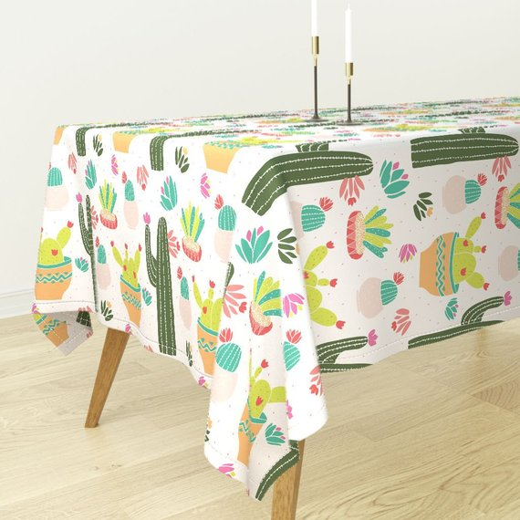 Southwest Tablecloth Cacti Succulents By Kellyparkersmith