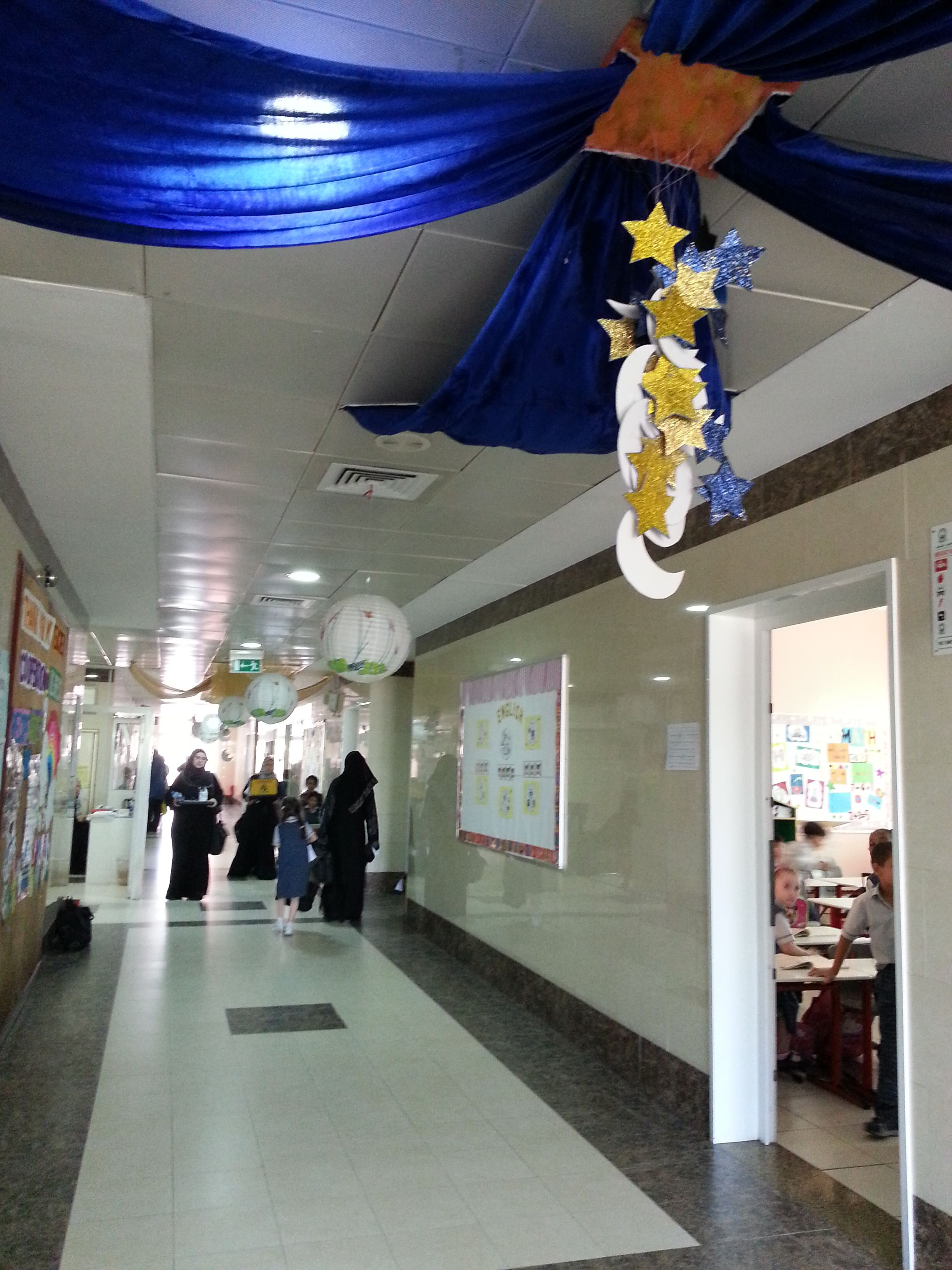 School hall decorations for Eid