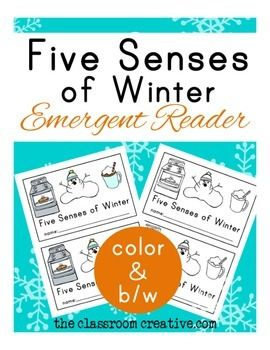 Winter Emergent Reader: Five Senses of Winter
