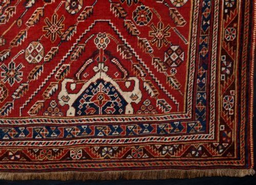 ANTIQUE SOUTH WEST PERSIAN QASHQAI TRIBAL RUG, FINE WEAVE, EXCELLENT DESIGN, 4TH QUARTER 19TH CENTURY
