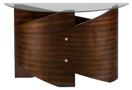 Waterville Contemporary Sofa Table Glass w/5MM Tempered Glass