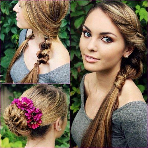3 peinados fáciles y rápidos para ir a clase | hairstyle tutorials