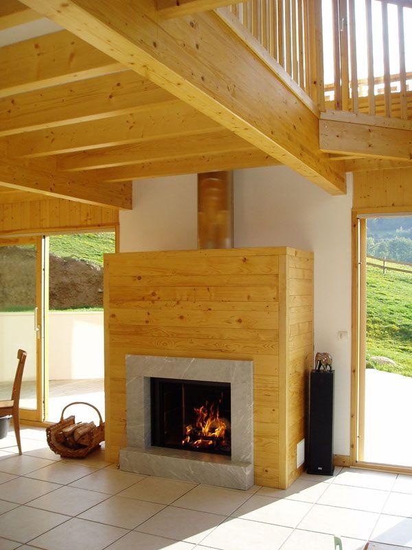 chemin e avec lambirs en sapin cadre en marbre bleu de. Black Bedroom Furniture Sets. Home Design Ideas