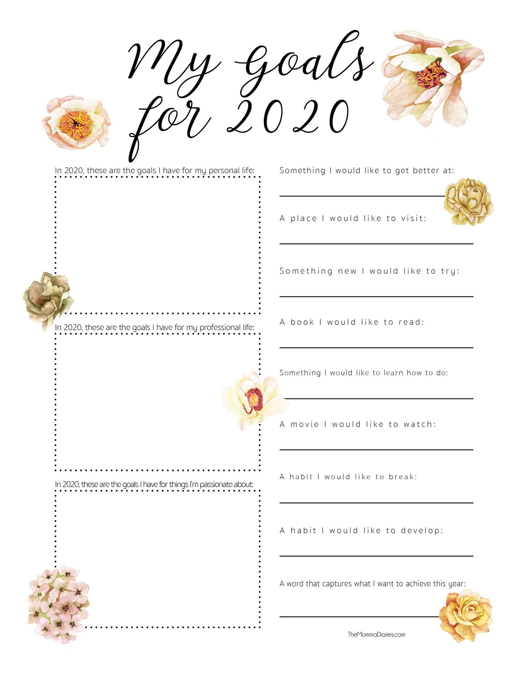 Goal Setting Printable