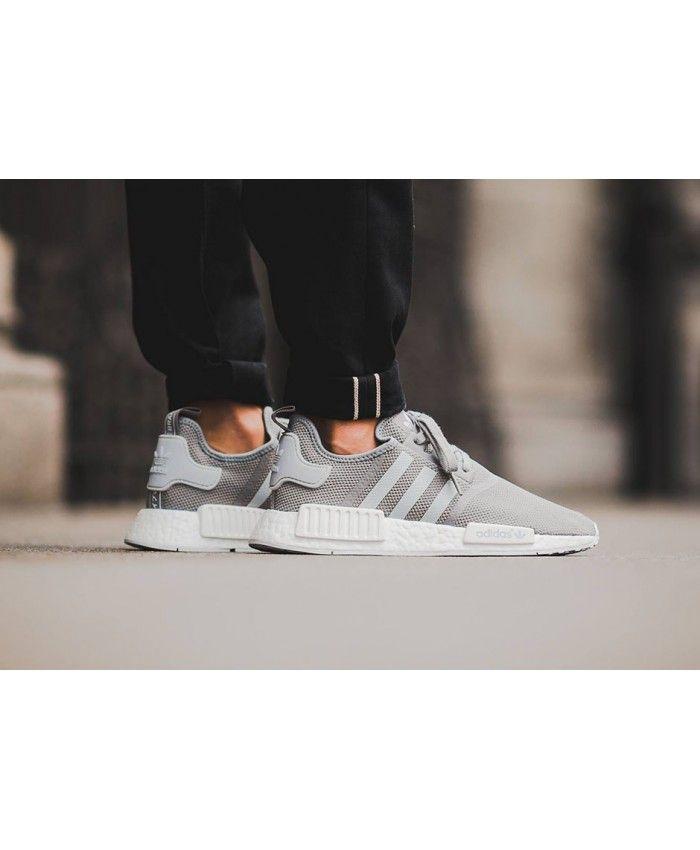 54bcc76c73da3 Adidas NMD Junior Wolf Grey White Shoes