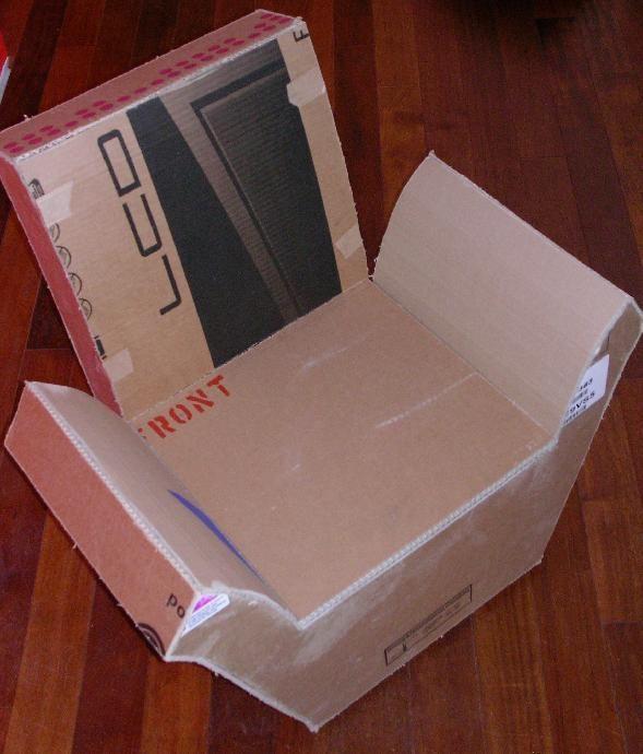 Tutoriel fauteuil enfant en carton cr ations en carton cartonnage femme2decotv hazlo t - Tutoriel meuble en carton ...