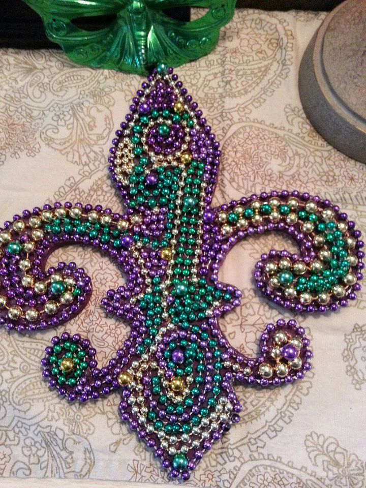 This large hand made Fleur De Lis makes a great door or wall ...