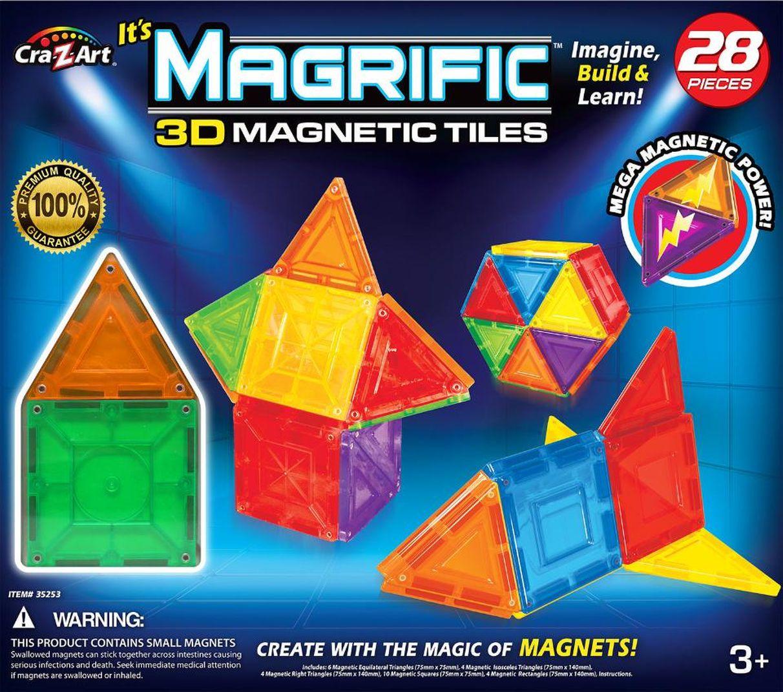 Magrific Magnetic Tiles Building Set 28 Piece Generic Color