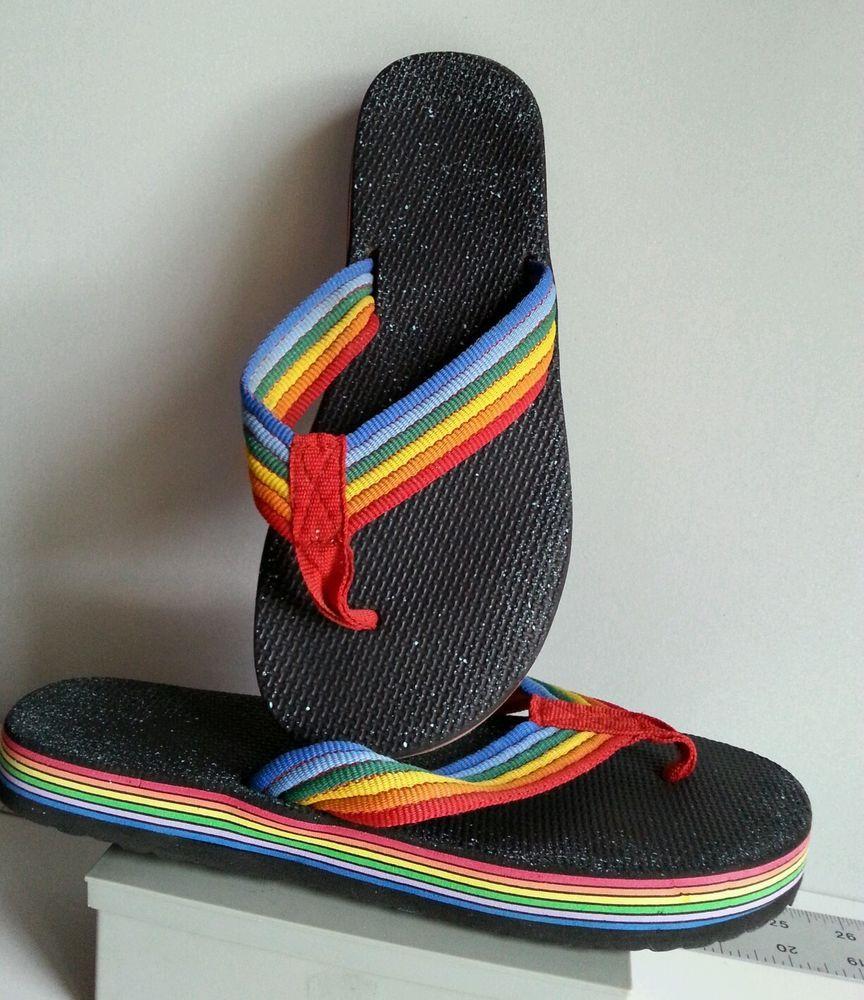 b2efaa9d5b7e Vintage 80 s Layered Flip Flops