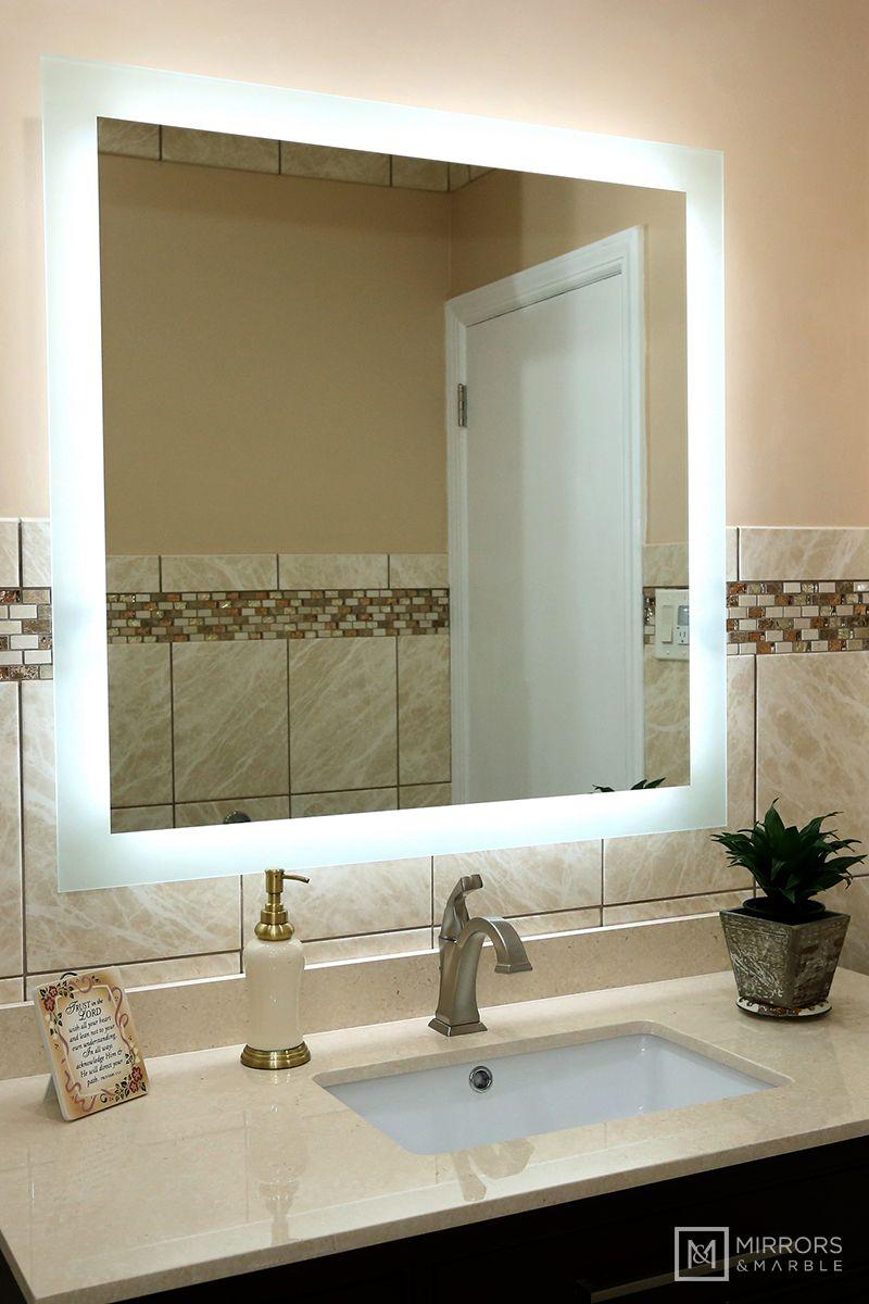 Side Lighted Led Bathroom Vanity Mirror 36 Bathroom Vanity Mirror Led Bathroom White Mirror Frame