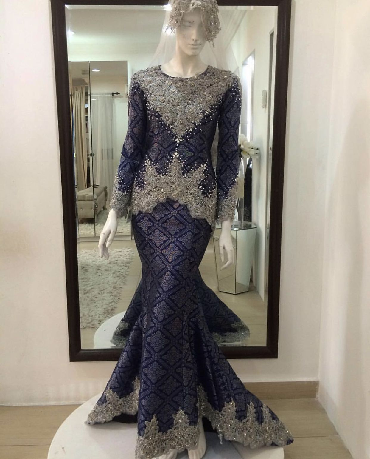 Pin By Nurain On Akad Nikah Wedding Dress Couture Malay Wedding Dress Gaun Dress