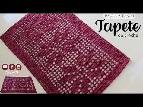 Tapete de crochê simples   Floral - JNY Crochê