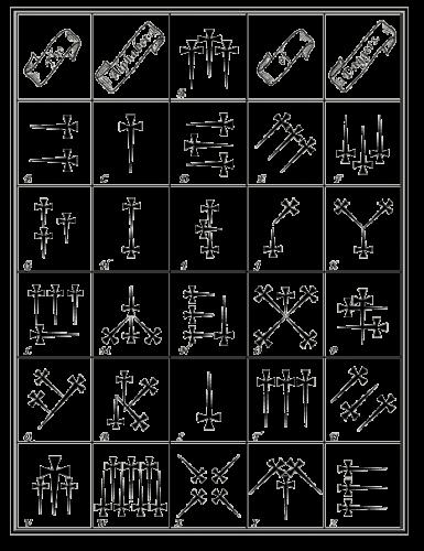 Image Of The Alphabet Of Daggers Visual Symbols Pinterest Symbols