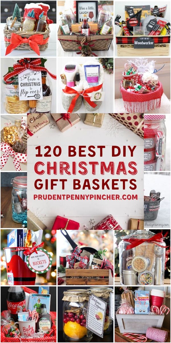 120 DIY Christmas Gift Baskets #gifts