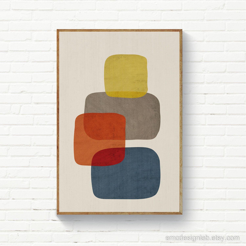 Photo of Organic Shapes Minimalist MidCentury Wall Art, Living Room Modern Art Print, Bedroom Decor, Large Size Prints, Printable Art Posters