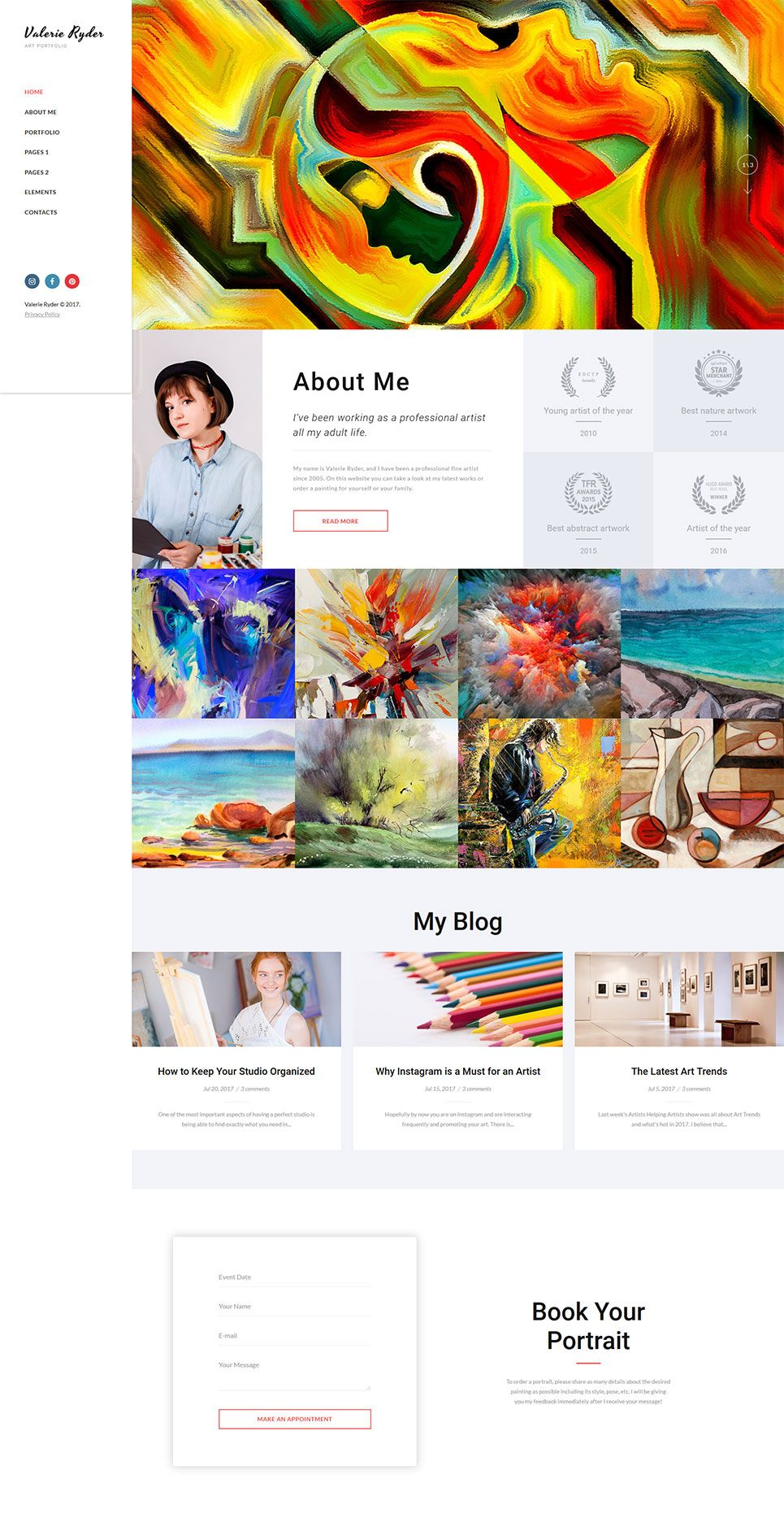 Artist S Portfolio Website Template Themes Business Responsive Websitethemes Portfolio Web Design Artist Portfolio Website Web Development Design,Negative Space One Logo Design