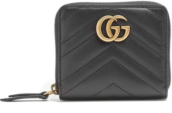 a9895e78a121 Gucci GG Marmont quilted-leather wallet   Products in 2018   Gucci ...