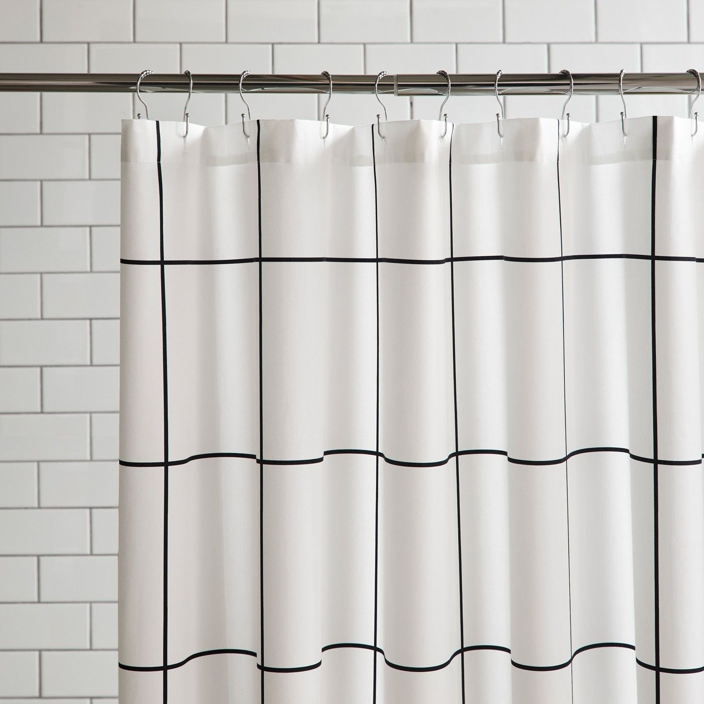 Grid Black Shower Curtain Black Shower Curtains Black Shower