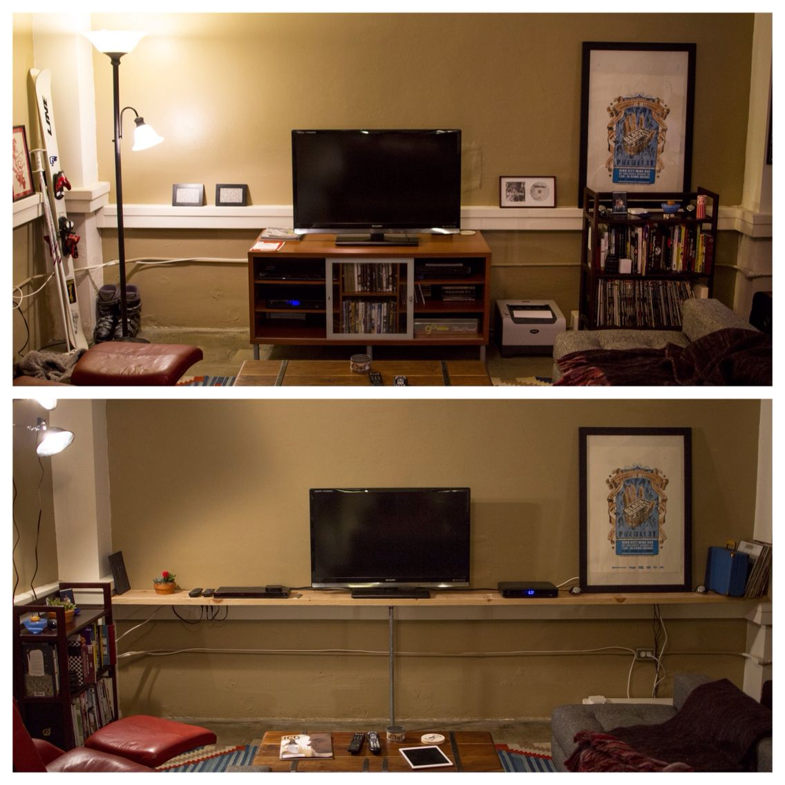 Before and after. Still working on the wiring.