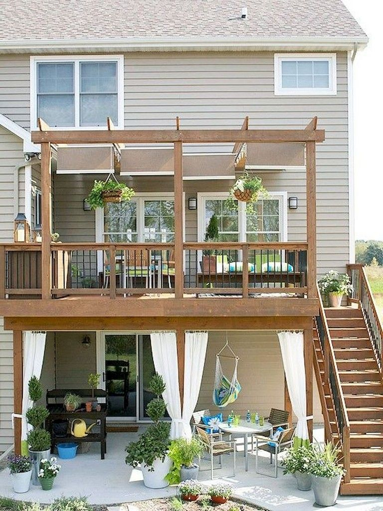 35 Marvelous Deck Privacy Ideas For Your Home Yard And Garden Outdoor Rooms Backyard Patio Decks Backyard
