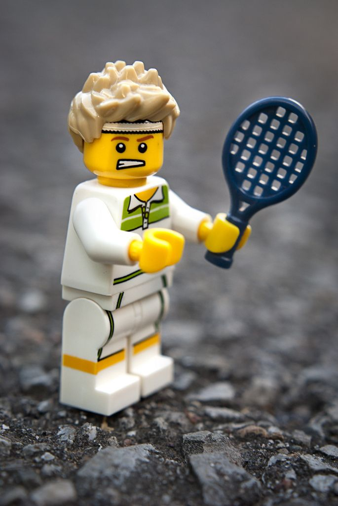 Lego Minifigures Tennis Decorations Tennis Photography Play Tennis