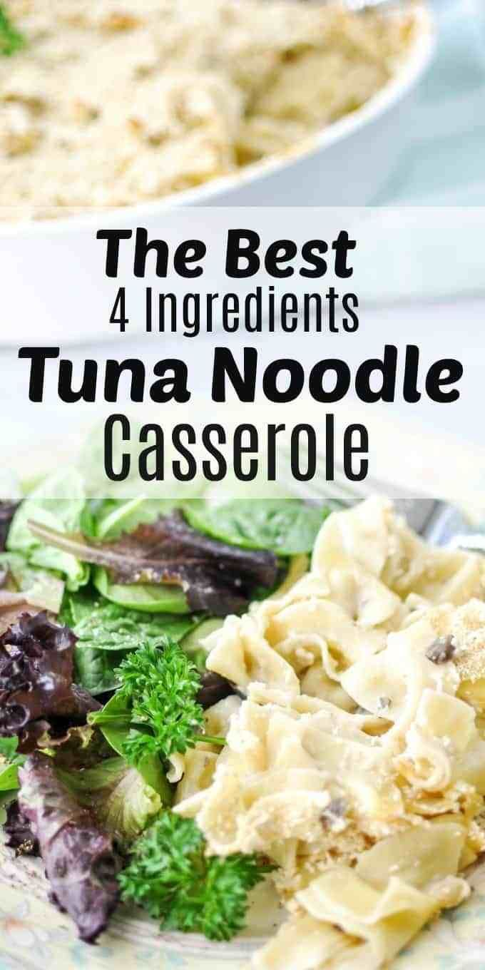 classic easy tuna noodle casserole ~ crafting a family