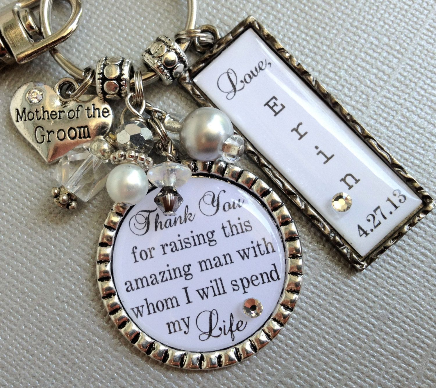 mother of the groom gift personalized mother of bride by buttonit