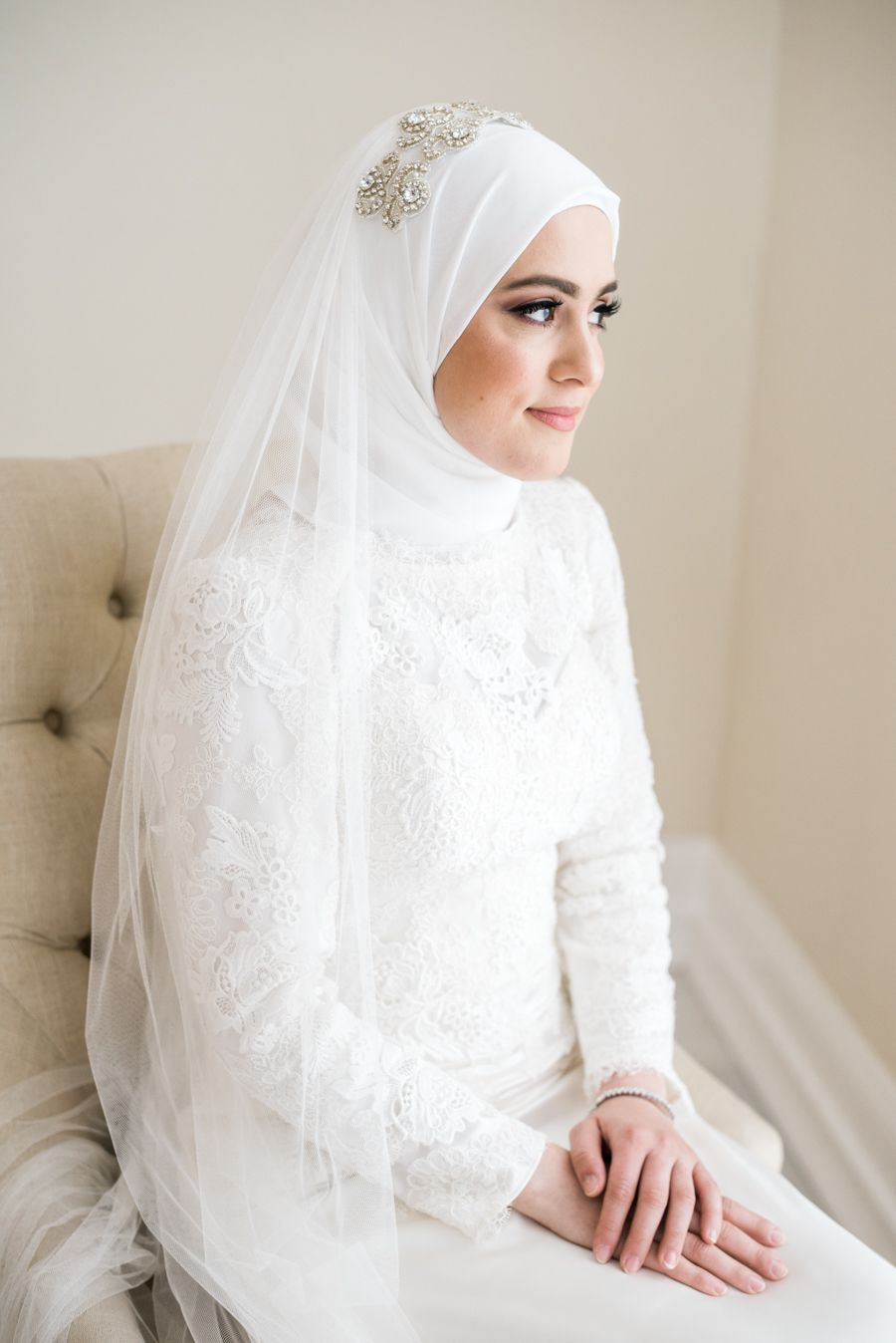 Intimate Rooftop Ceremony Grand Reception Magic Muslimah Wedding Muslimah Wedding Dress Wedding Dresses [ 1348 x 900 Pixel ]