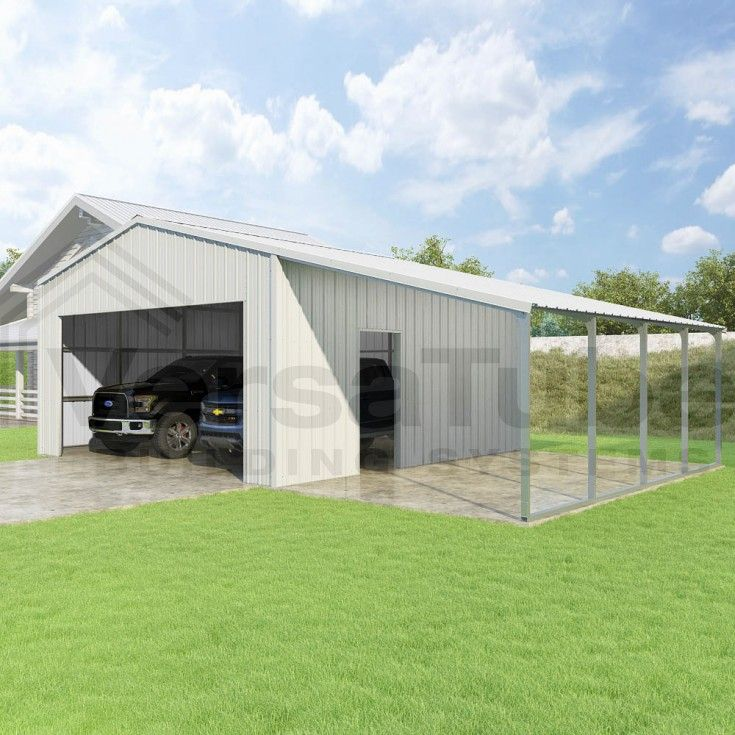 20 Traditional Architecture Inspired Detached Garages: Summit Garage With Lean - To - 20 X 20 X 10