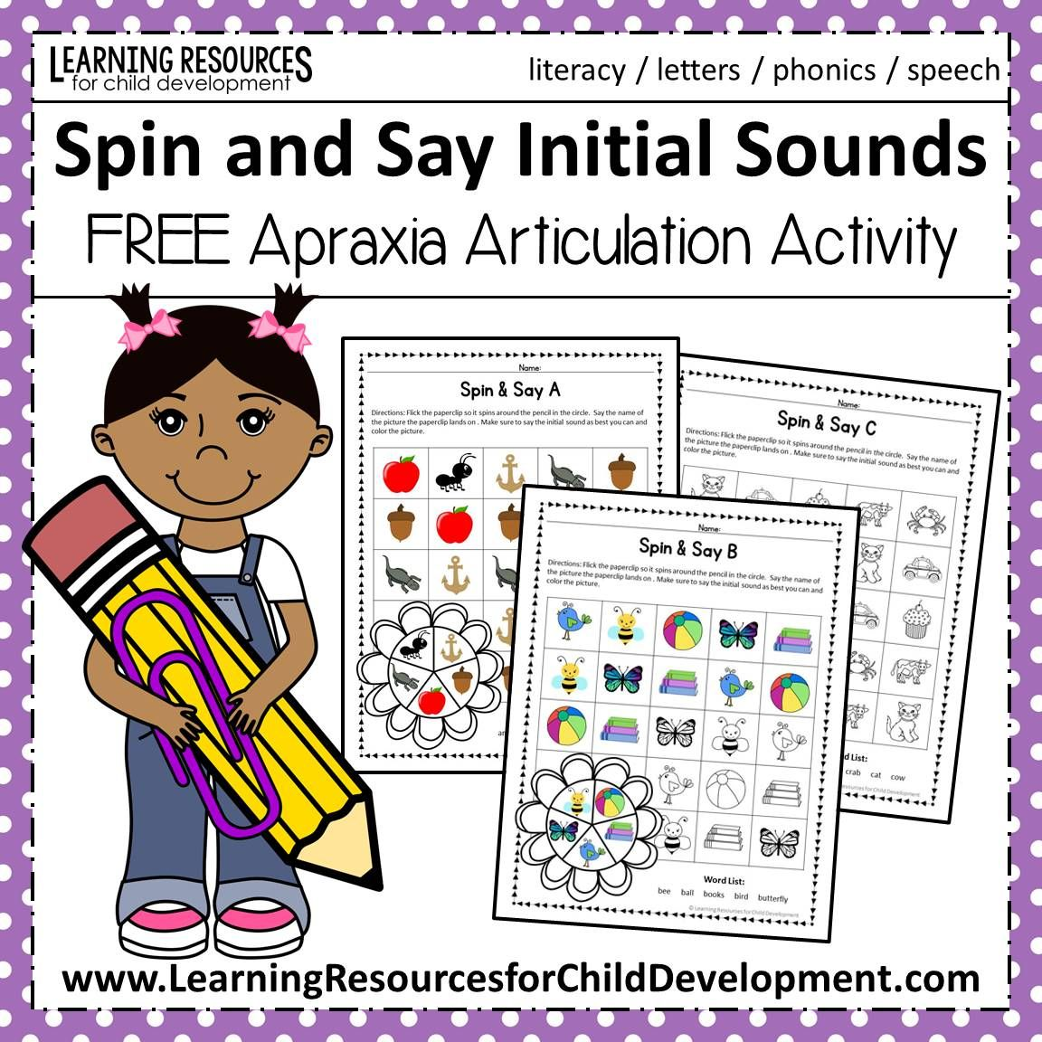 Spin And Say Initial Sounds