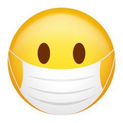 Emoji with mask stock photos, royalty-free images, vectors, video | Emoticon,  Dancing emoticon, Funny emoji faces