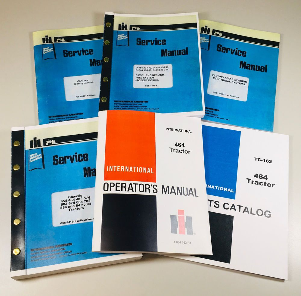eBay #Sponsored INTERNATIONAL 464 DIESEL TRACTOR SERVICE PARTS OPERATORS  MANUAL ENGINE CHASSIS