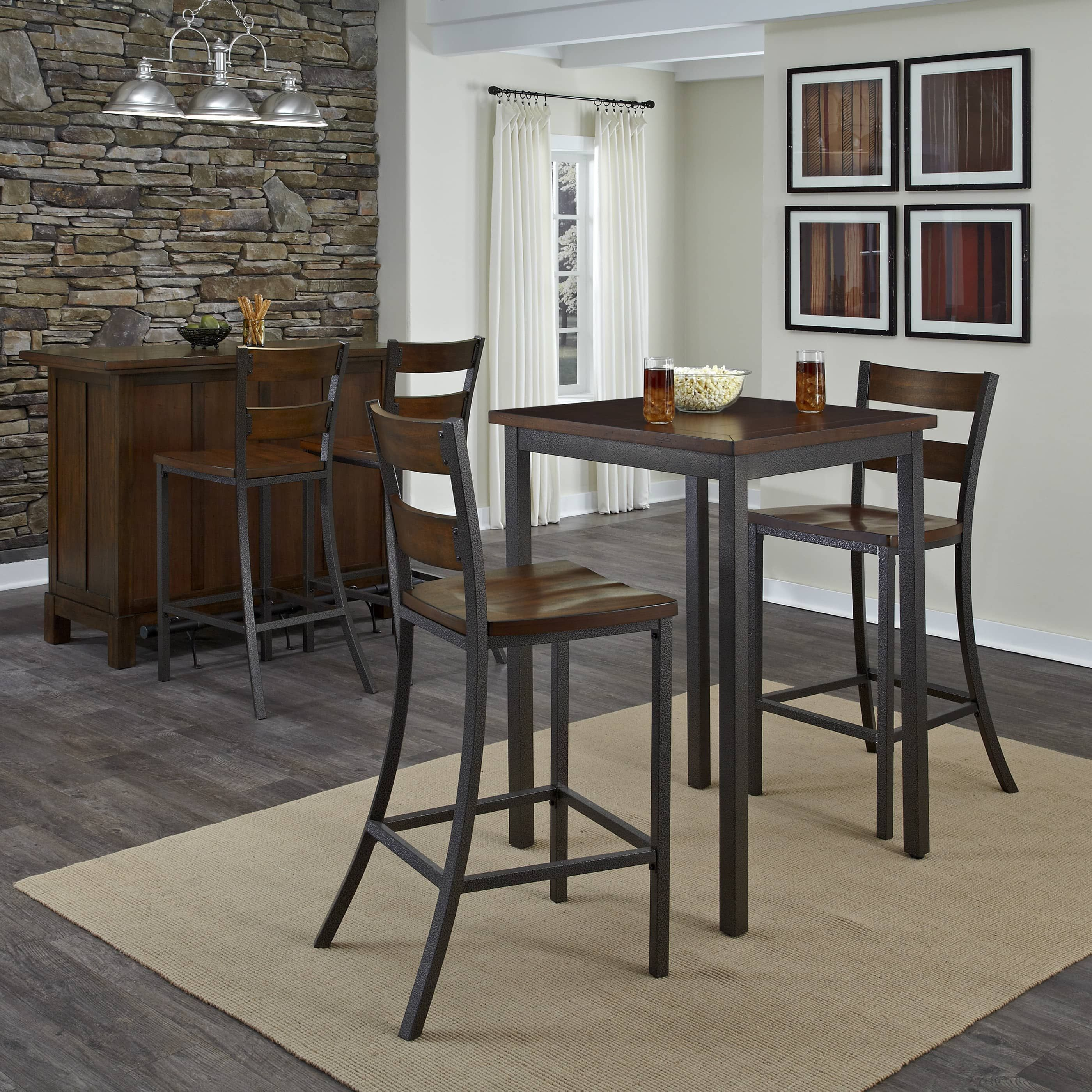 cabin creek 3 piece bistro set by home styles overstock com shopping the best deals on pub sets