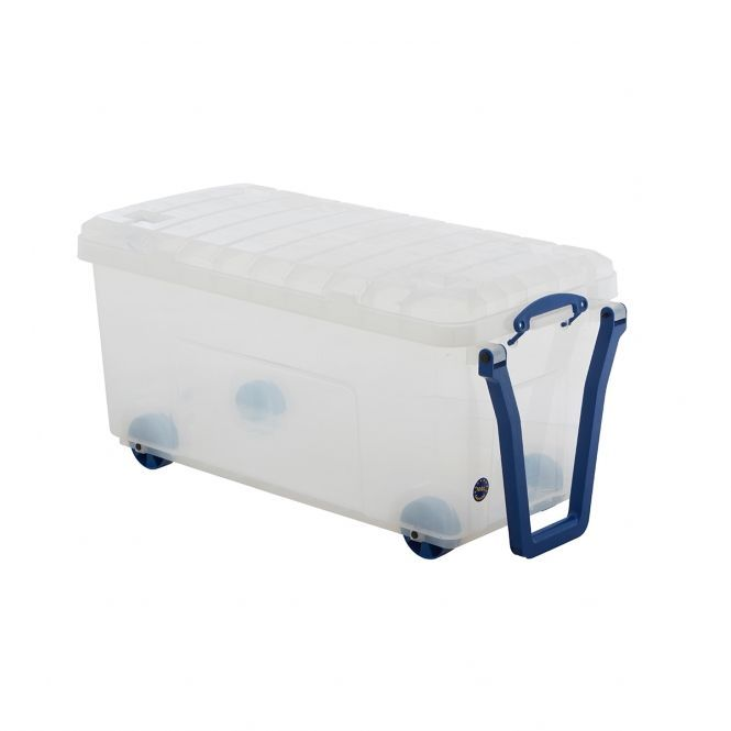 Really Useful Plastic Storage Trunk On Wheels