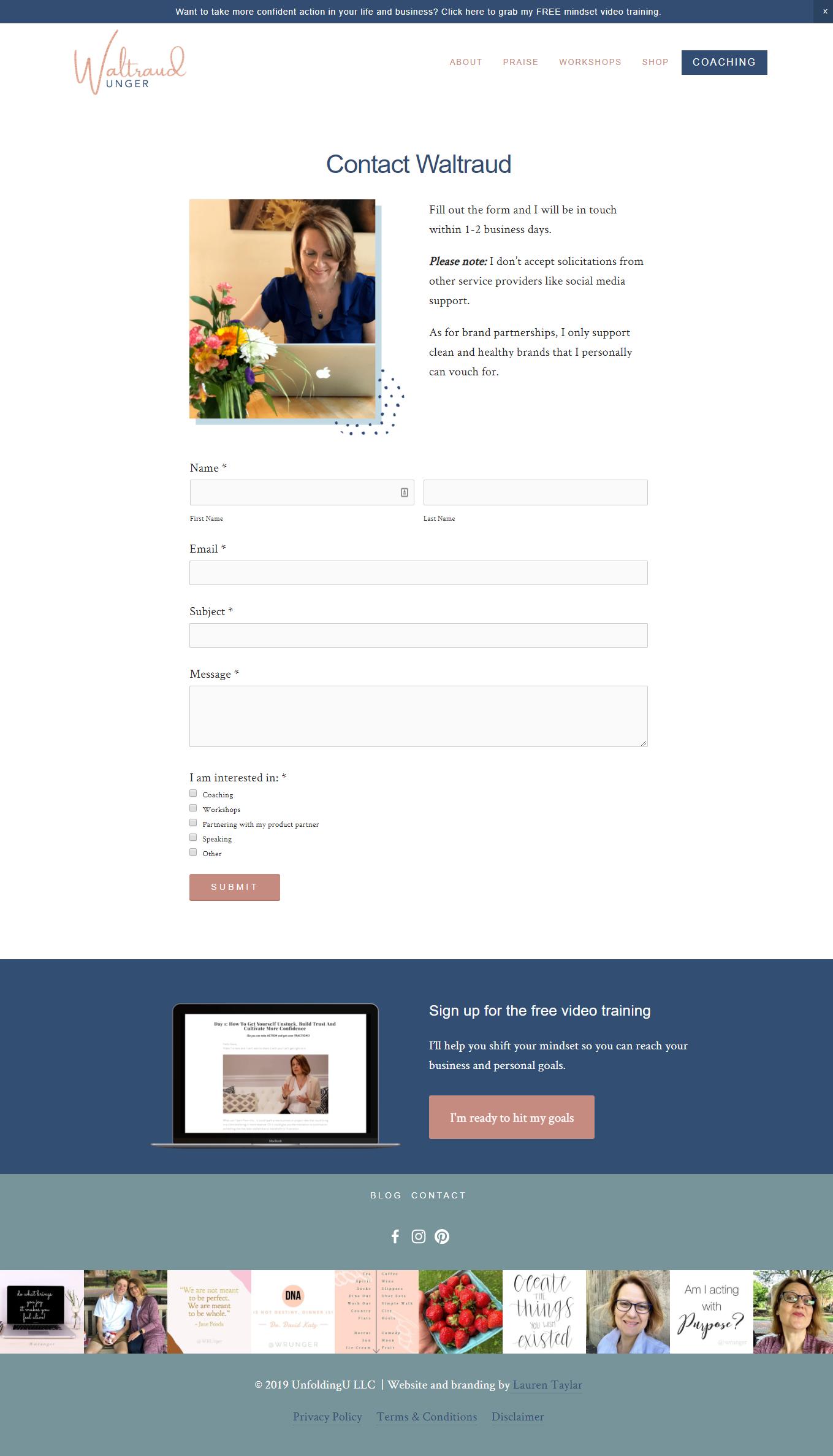 Lauren Taylar Squarespace Design Seo Strategy Small Business Website Design Squarespace Website Design Squarespace Design