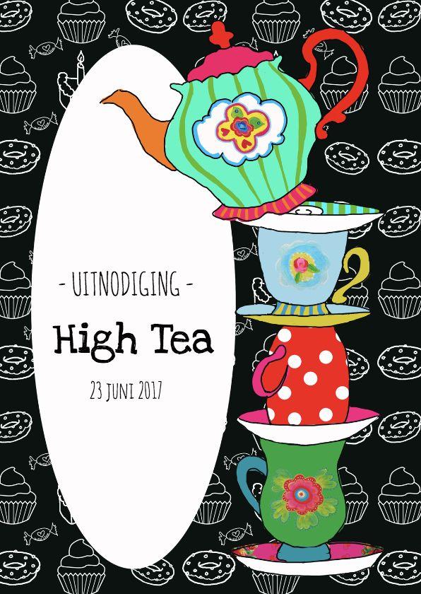 Verwonderend Uitnodiging High Tea PA, verkrijgbaar bij #kaartje2go voor € 1,89 WC-92
