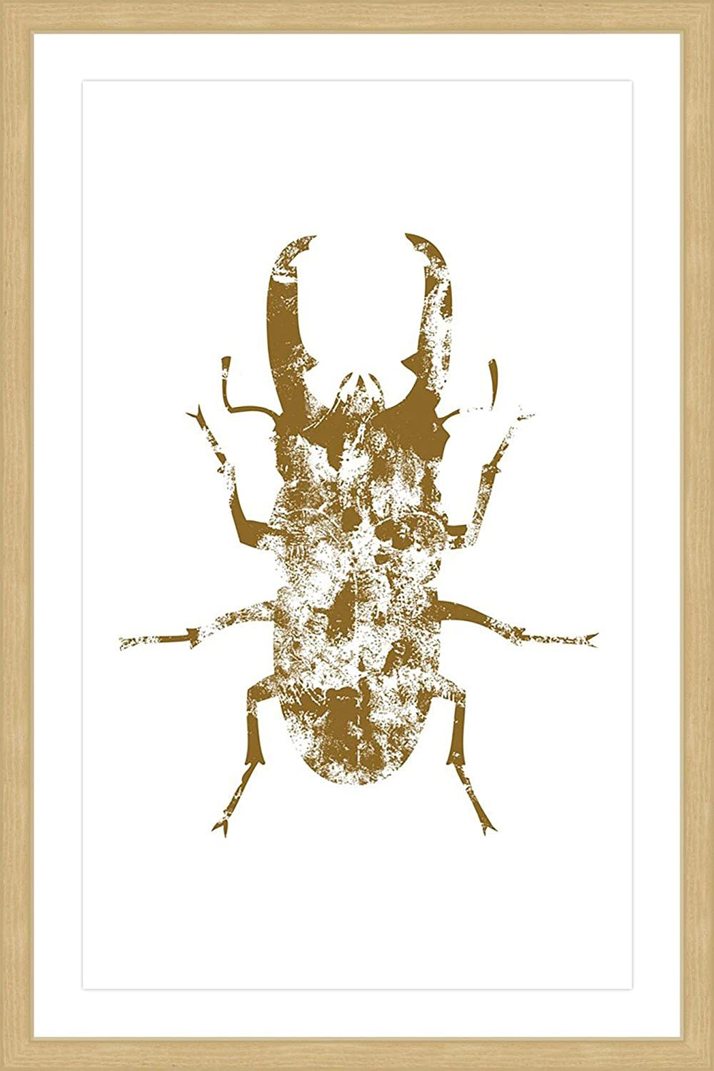 Marmont Hill Beetle Gold Framed Painting Print 24 X 36 Multicolor Home Kitchen Wall Art Posters Prints Ar In 2020 Painting Frames Gold Frame Painting Prints