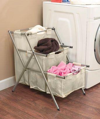 3 Tier Folding Laundry Sorter Laundry Room Organization Storage Laundry Room Organization Storage Bins Organization