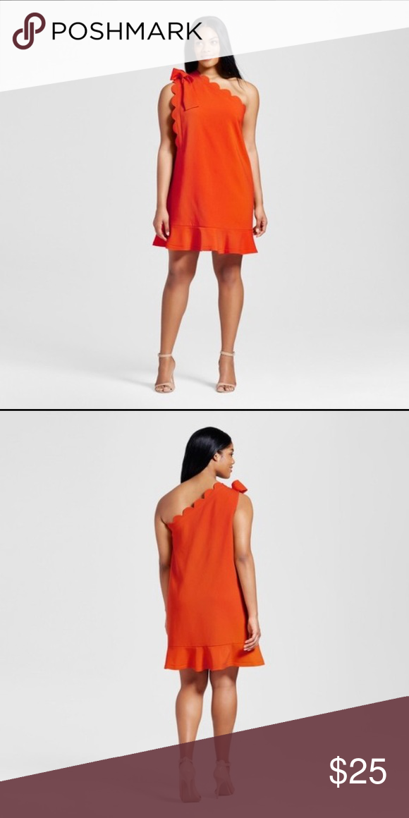 3e0df057bc Victoria Beckham for target orange dress plus sz New with tags. Size XL  Bust 21