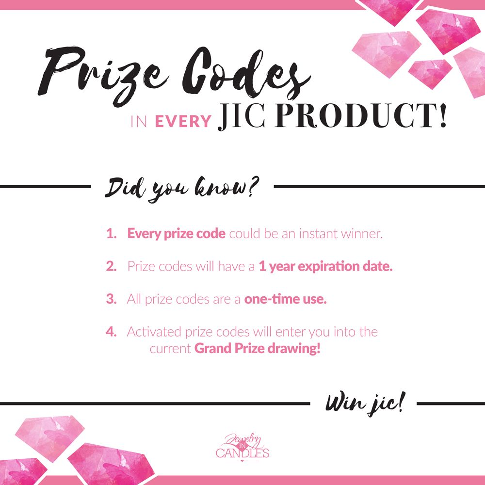 Jewelry in candles instant winner code