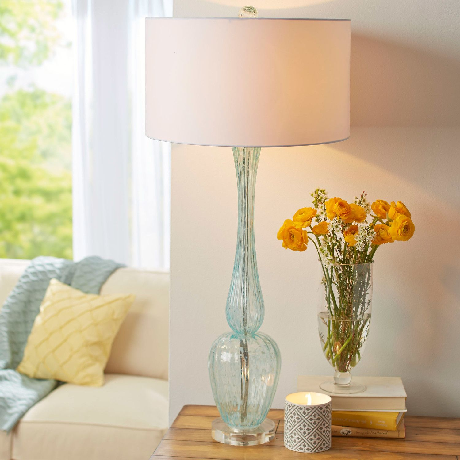 Marino Glass Table Lamp Glass table lamps, Glass table
