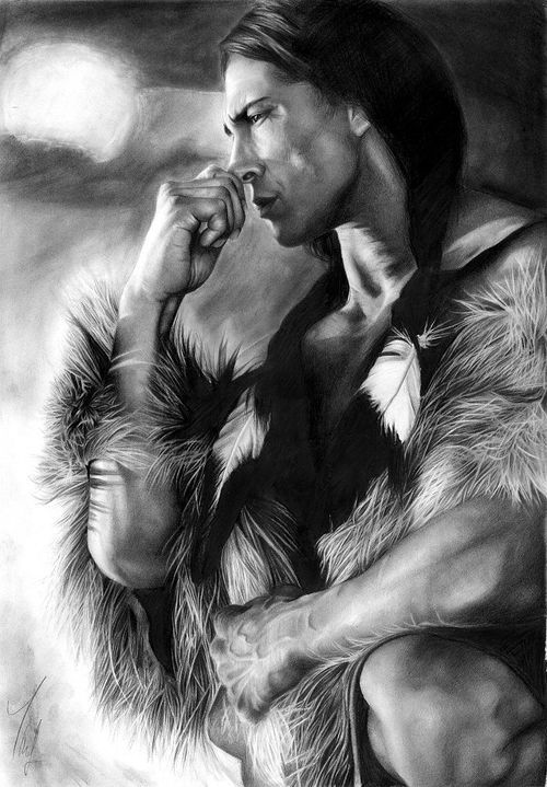 Pencil Art, Native American- I don't normally like such realistic drawing but I do like native americans