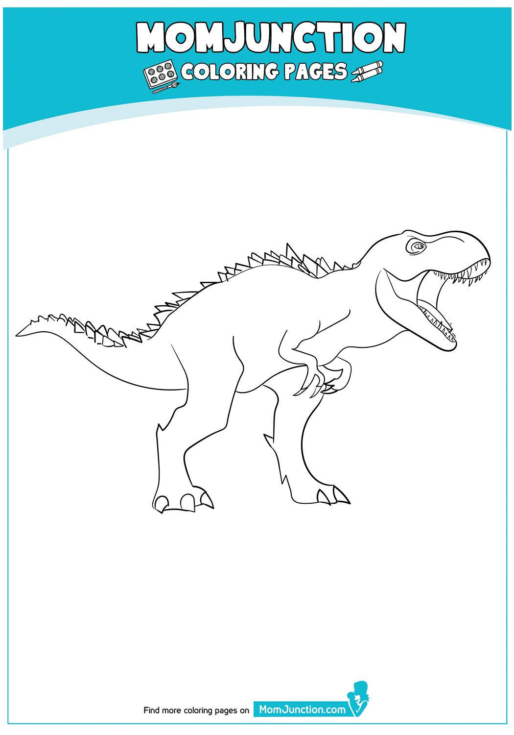 The Dinosaur With Pentagons Coloring Page in 2020