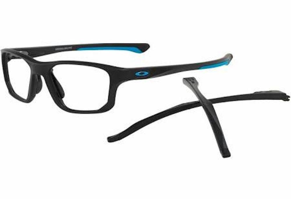 5c28171629f ... shopping brand new oakley crosslink fit eyeglasses. 8136 01 satin black  size 53 01ee4 0c9b8