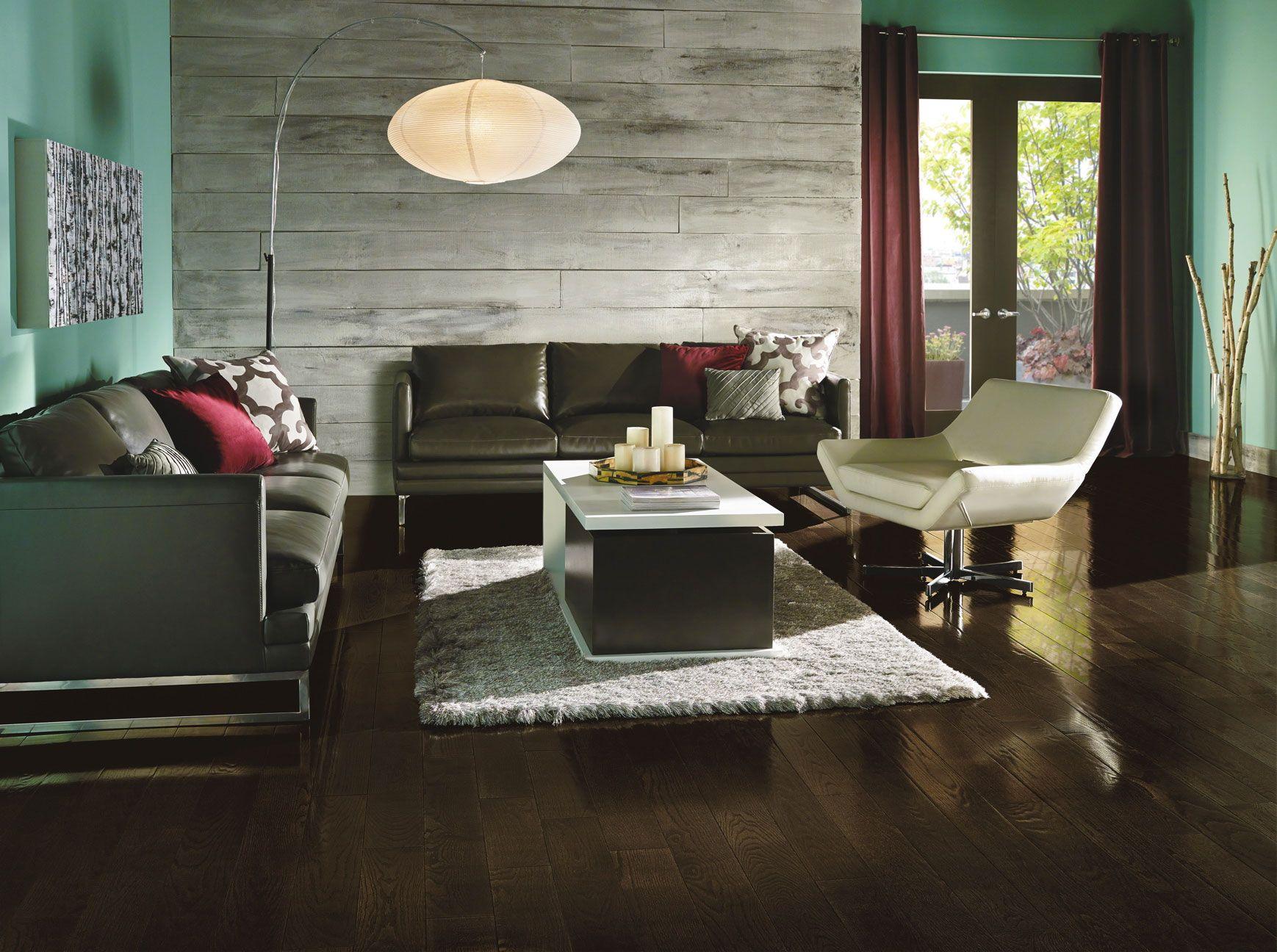 Prime Harvest Oak In Blackened Brown House Interior