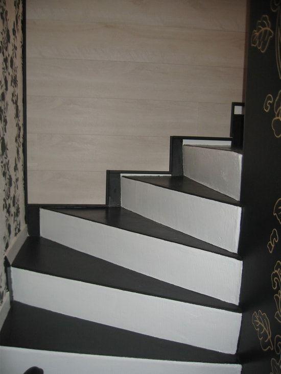 J Ai Un Escalier Beton Et Je Cherche Un Moyen Facile Pour L Habiller En Evitant Escalier Beton Escalier Relooking Et Peinture Escalier