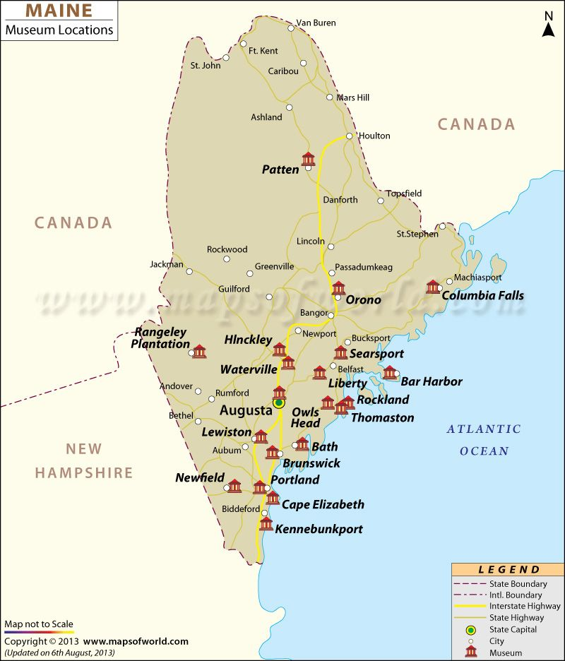 Danforth Maine Map.Maine Museums Map Museums Of America Pinterest Maine Visit