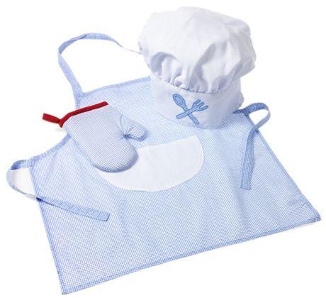 Osta Oskar & Ellen little chef blue   Jollyroom