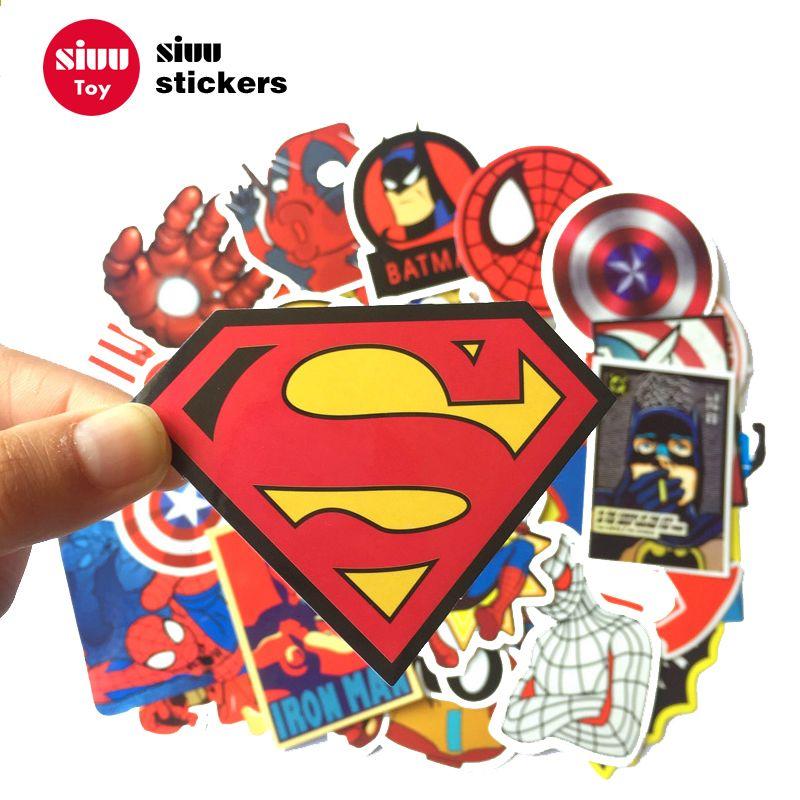 50 Unids Lote Graffit Pegatinas Para Superheroes Dc Coche Dc Laptop Notebook Decal Nevera Skateboard Batman Superhero Stickers Cartoon Stickers Sticker Bomb